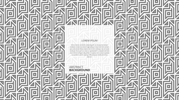 Abstraktes dekoratives quadratisches dreieckslinienmuster Premium Vektoren