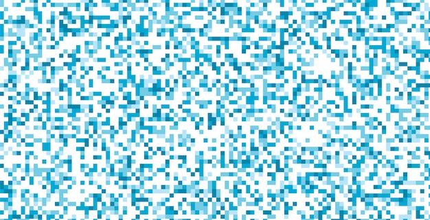 Abstraktes design der blauen und weißen pixel Kostenlosen Vektoren