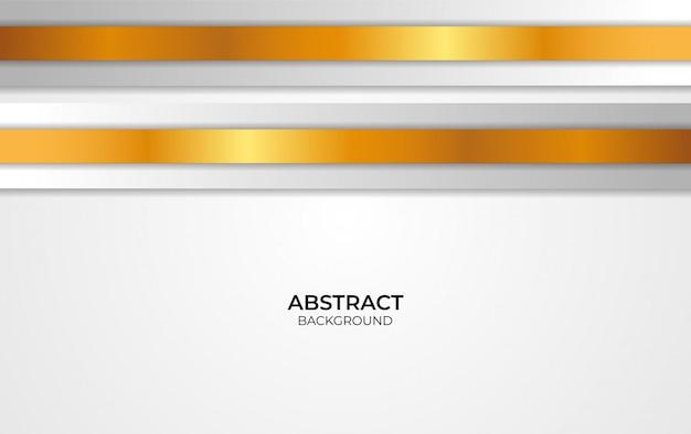 Abstraktes design weiß und gold Premium Vektoren