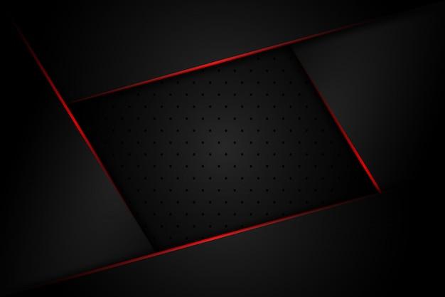 Abstraktes dunkelgraues mit linie des roten lichtes auf modernem futuristischem luxushintergrund des leerzeichendesigns Premium Vektoren