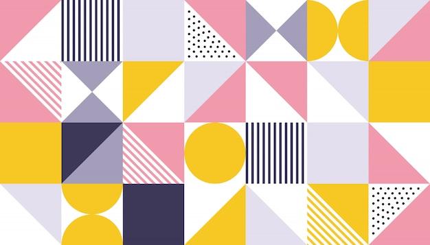 Abstraktes farbdesign des geometrischen musters Premium Vektoren