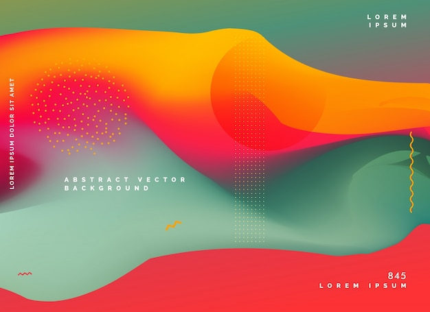 abstraktes farbiges Hintergrund-Steigungsdesign Kostenlose Vektoren