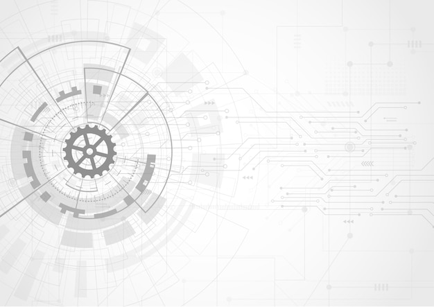 Abstraktes futuristisches digitaltechnologiekonzept Premium Vektoren
