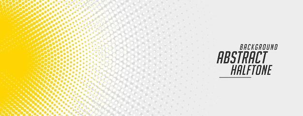 Abstraktes gelbes und weißes halbtonfahnenentwurf Kostenlosen Vektoren