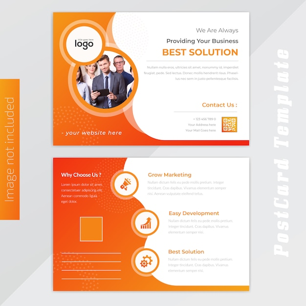 Abstraktes Gelbes Visitenkarte Design Premium Vektor