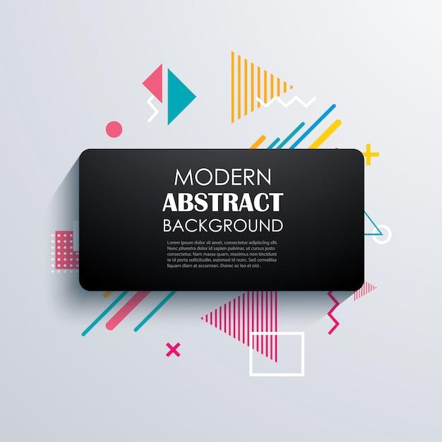 Abstraktes geometrisches design und hintergrund. Premium Vektoren