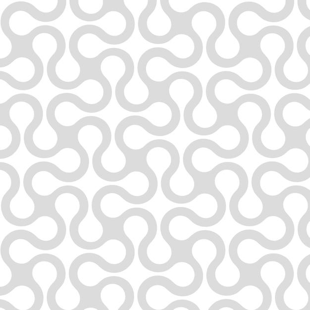 Abstraktes geometrisches nahtloses muster mit gebogenen streifen, linien Premium Vektoren