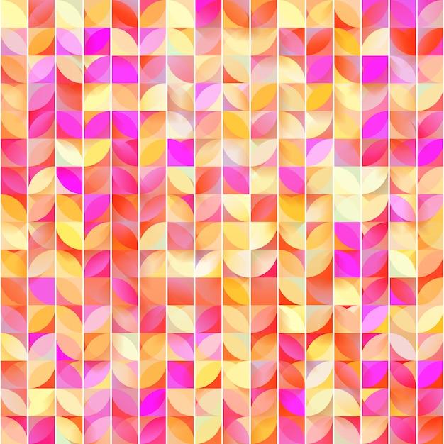 Abstraktes geometrisches nahtloses muster. netter mosaikhintergrund. Premium Vektoren