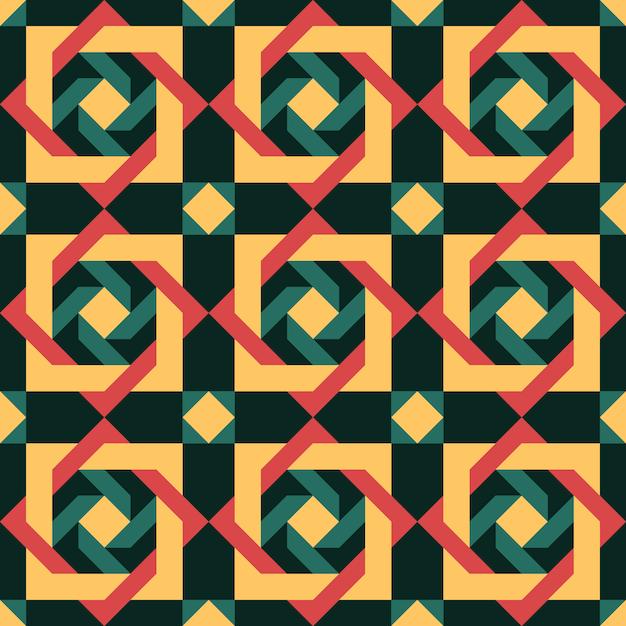 Abstraktes geometrisches portugiesisches muster Premium Vektoren