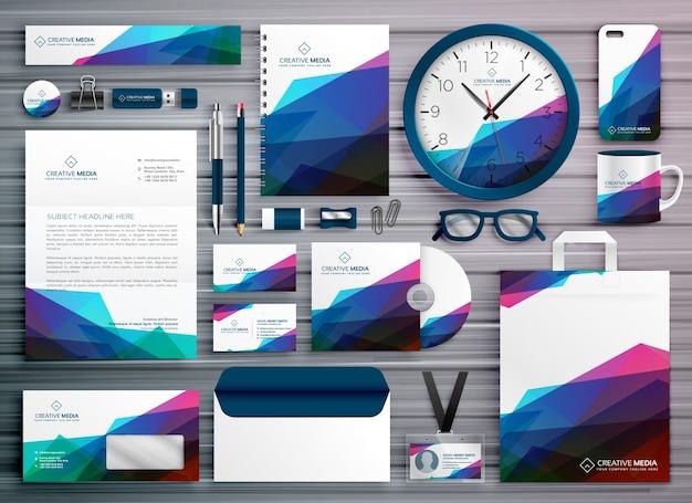 Abstraktes geschäftsbriefpapier corporate identity template design Premium Vektoren