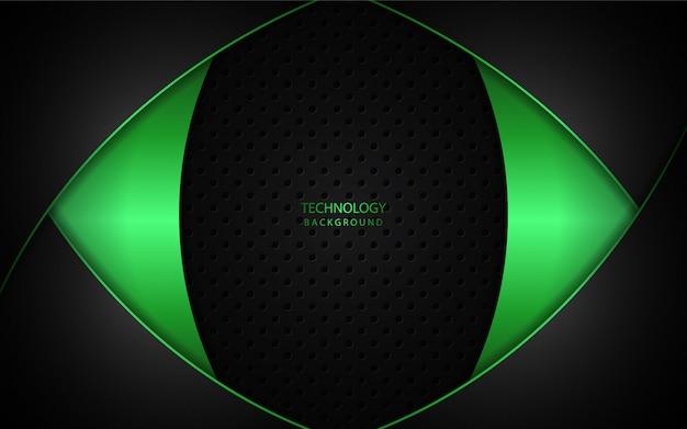 Abstraktes hellgrünes auf dunklem hintergrund Premium Vektoren