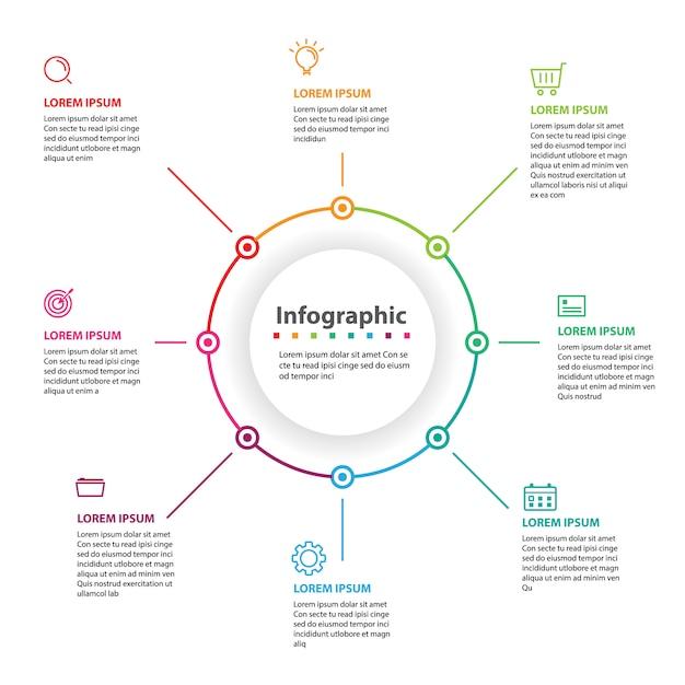 Abstraktes infographic, vektorabbildung Premium Vektoren
