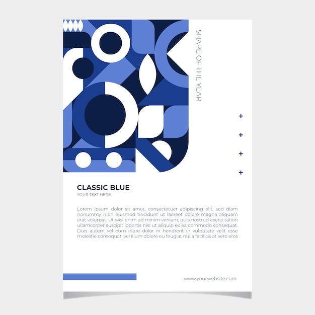 Abstraktes klassisches blaues plakat Kostenlosen Vektoren