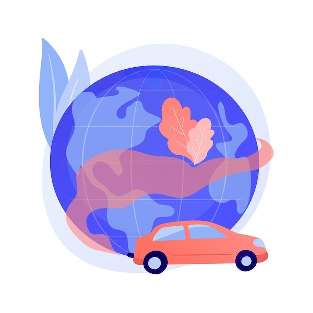 Abstraktes konzept der kraftfahrzeugverschmutzung Kostenlosen Vektoren