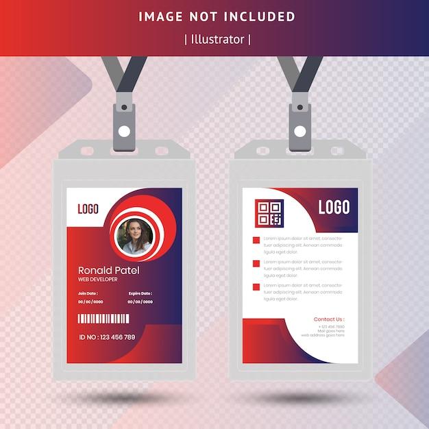 Abstraktes kreis-id-karten-design Premium Vektoren
