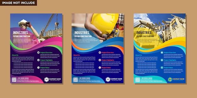 Abstraktes layout der broschüre Premium Vektoren