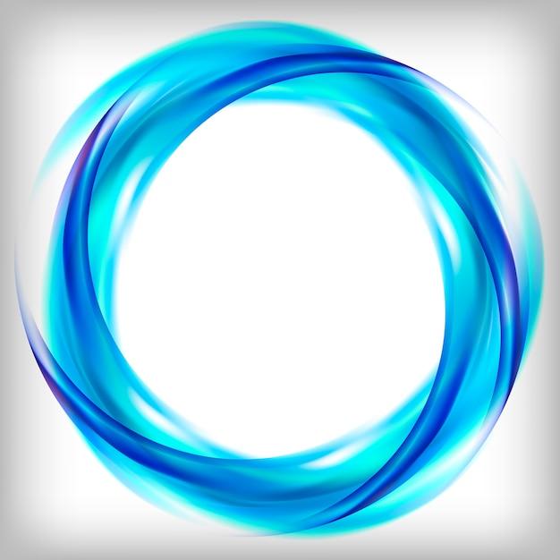 Abstraktes logo design in blau Kostenlosen Vektoren