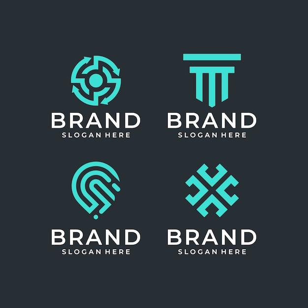 Abstraktes logo design pack Premium Vektoren