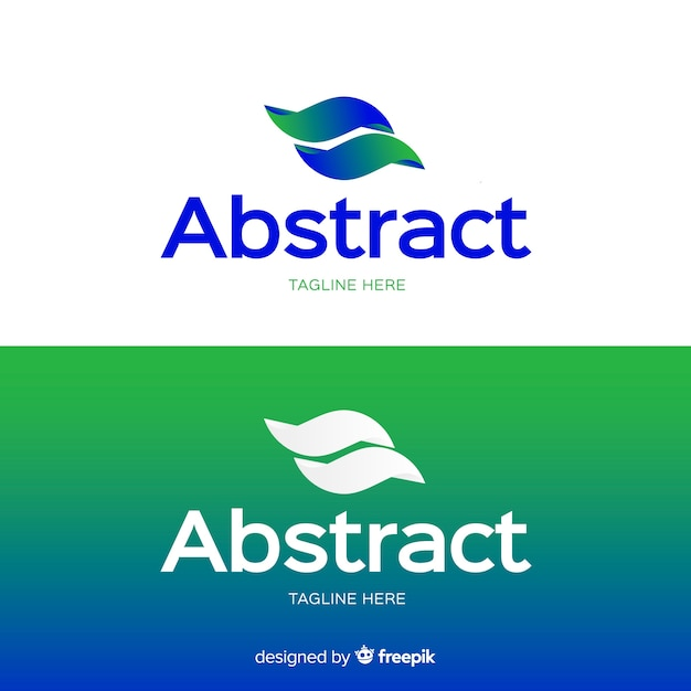 Abstraktes logo für hellen und dunklen hintergrund Kostenlosen Vektoren