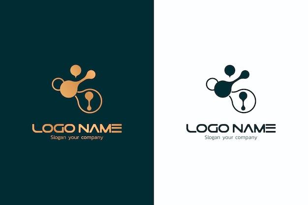 Abstraktes logo in zwei versionen design Kostenlosen Vektoren