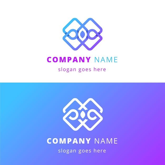 Abstraktes logo in zwei versionen Kostenlosen Vektoren