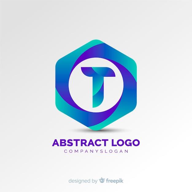 Abstraktes logo mit farbverlauf Kostenlosen Vektoren