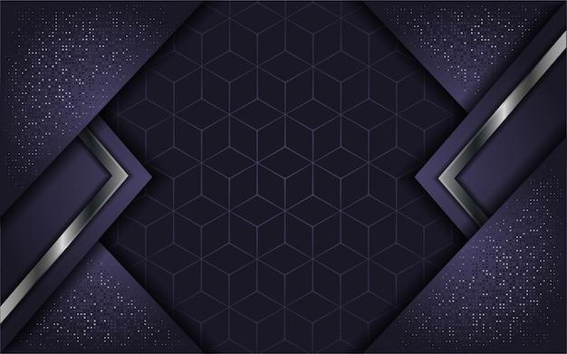 Abstraktes luxuspurpur mit deckschicht Premium Vektoren