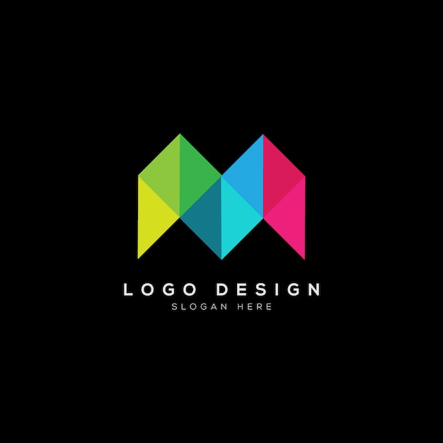 Abstraktes m-buchstabe-logo Premium Vektoren