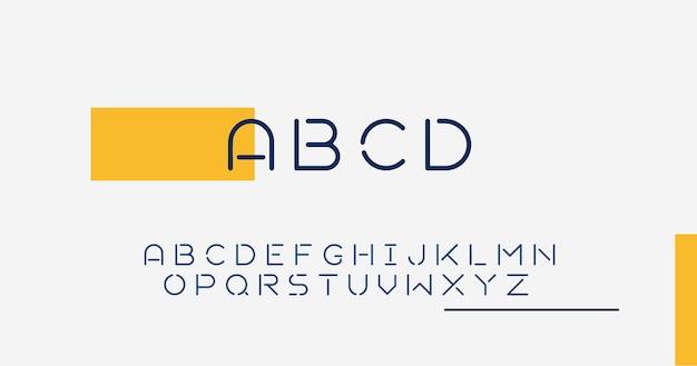 Abstraktes minimales alphabet Kostenlosen Vektoren