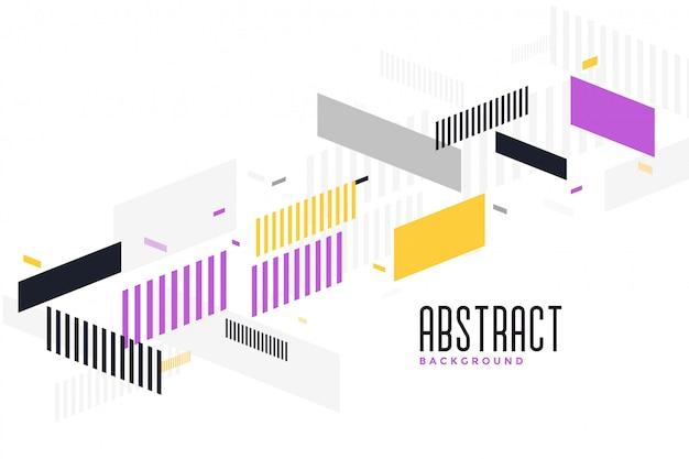 Abstraktes modernes geometrisches hintergrunddesign Kostenlosen Vektoren