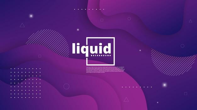 Abstraktes modernes grafisches element. dynamische farbige formen und wellen. abstrakter hintergrund der steigung mit flüssigen flüssigen formen Premium Vektoren