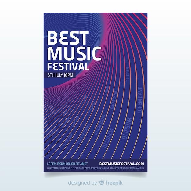 Abstraktes musik festival poster Kostenlosen Vektoren