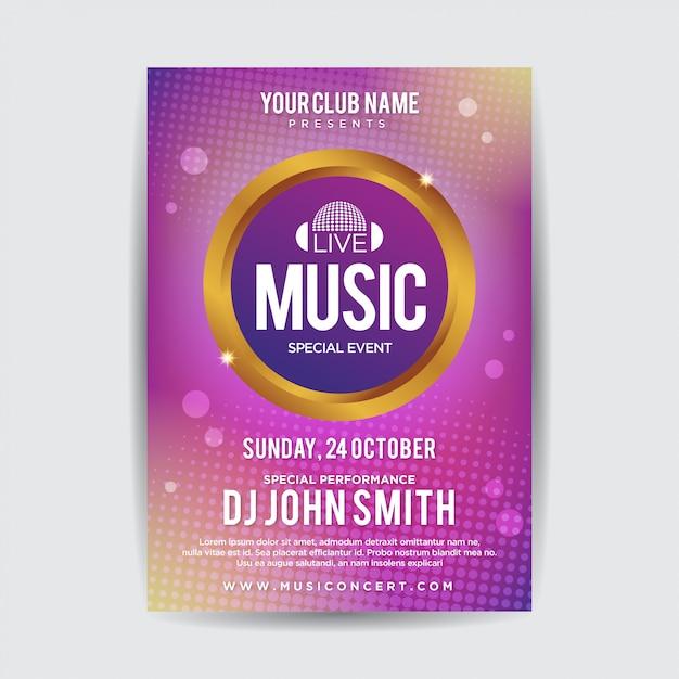 Abstraktes musikfestival plakat flyer vorlage Premium Vektoren