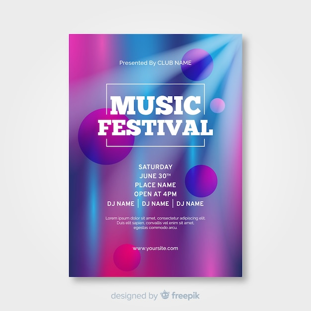 Abstraktes musikfestivalplakat Kostenlosen Vektoren