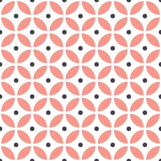 Abstraktes nahtloses geometrisches muster im skandinavischen stil. Premium Vektoren