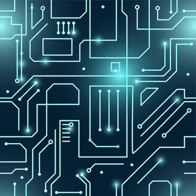 Abstraktes nahtloses muster des cybers Premium Vektoren