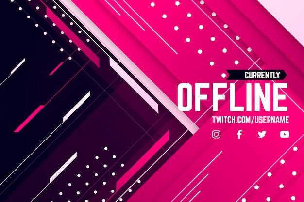 Abstraktes offline zuckendes banner Premium Vektoren