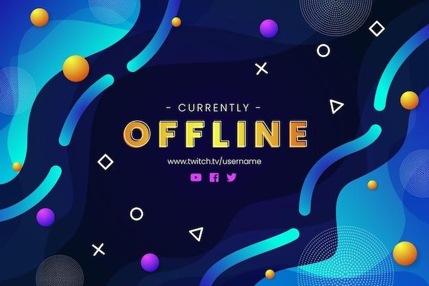 Abstraktes offline zuckendes banner Kostenlosen Vektoren