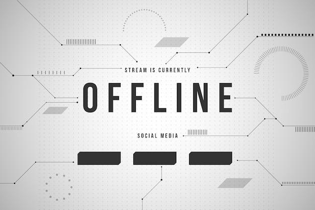 Abstraktes offline zuckendes bannerthema Kostenlosen Vektoren
