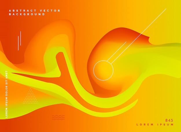Abstraktes orange flüssiges farbvektor backgroud Kostenlosen Vektoren