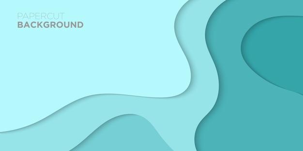 Abstraktes papier geschnitten hintergrund Premium Vektoren