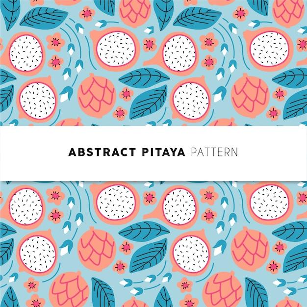 Abstraktes pitaya muster Premium Vektoren