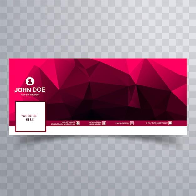 Abstraktes polygon-facebook-banner Kostenlosen Vektoren