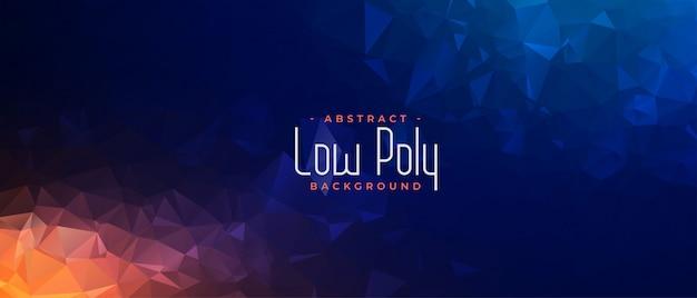 Abstraktes polygonales geometrisches banner in zwei schattierungen Kostenlosen Vektoren