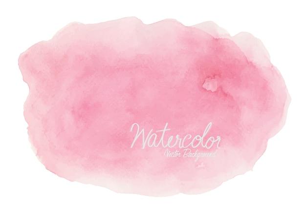 Abstraktes rosa aquarell auf weißem hintergrund Premium Vektoren