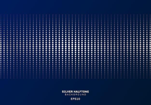 Abstraktes silbernes punktmusterhalbtonbild Premium Vektoren
