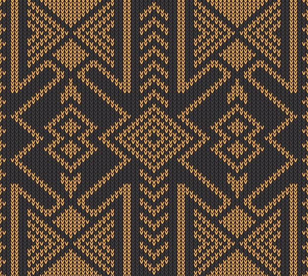 Abstraktes stammes- aztekisches nahtloses muster Premium Vektoren