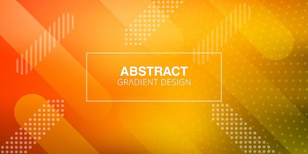Abstraktes steigungsdesign mit geometrischen formen Premium Vektoren