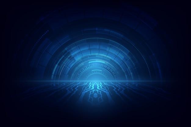 Abstraktes technologie-geschwindigkeitskonzept. Premium Vektoren