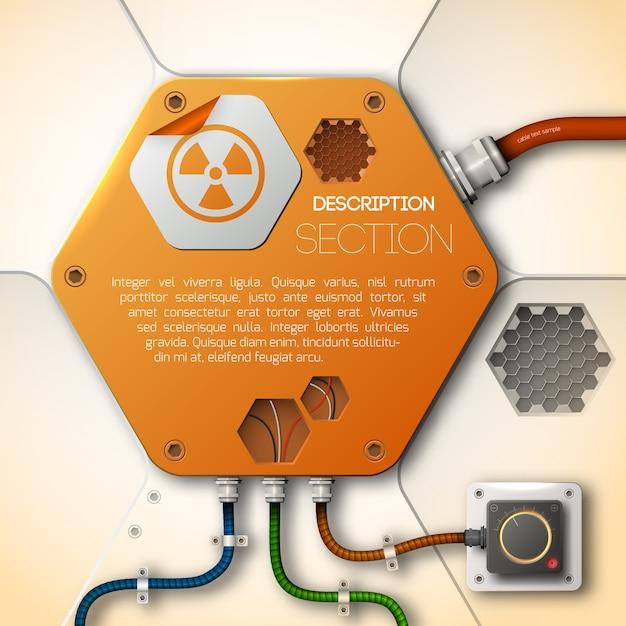 Abstraktes technologiedesign Kostenlosen Vektoren